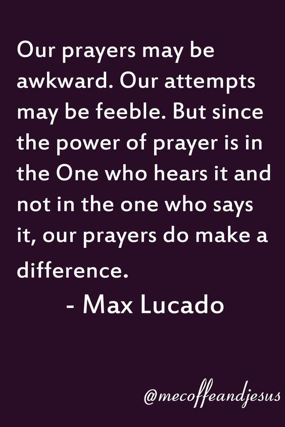 Our prayers