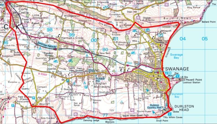 purbecks map